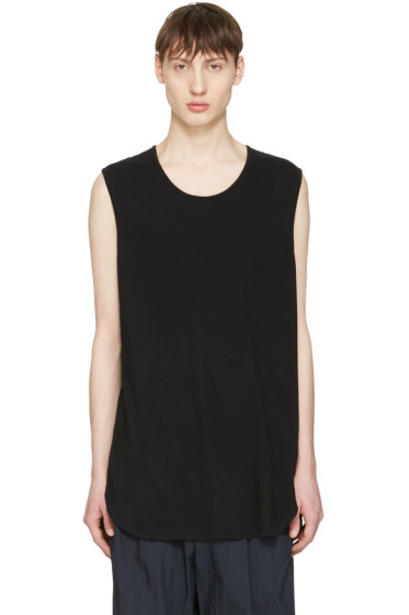 Undecorated Man - Black Cotton Tank Top
