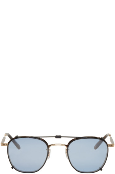 Garrett Leight - Tortoiseshell Grant Clip-On Sunglasses
