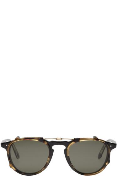 Garrett Leight - Black & Tortoiseshell Clip-On Hampton Glasses