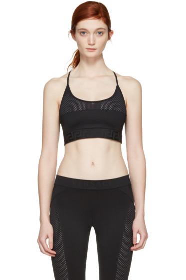 Versace Underwear - Black Mesh Sports Bra