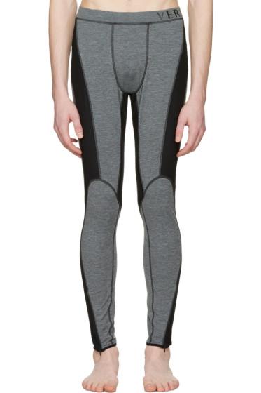 Versace Underwear - Grey Panelled Leggings