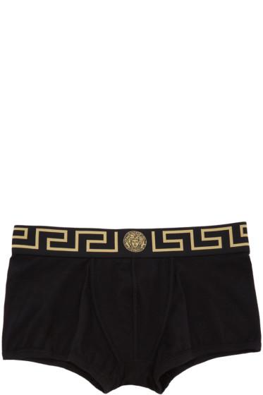 Versace Underwear - Two-Pack Black & White Boxer Briefs