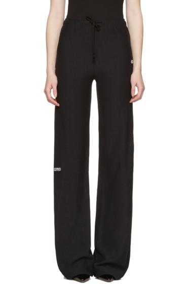 Vetements - Black Champion Edition Loose Lounge Pants