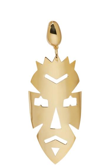 Loewe - Gold Vintage Mask Earring