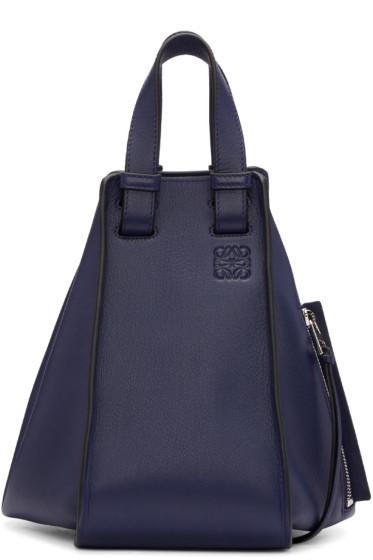 Loewe - Navy Small Hammock Bag