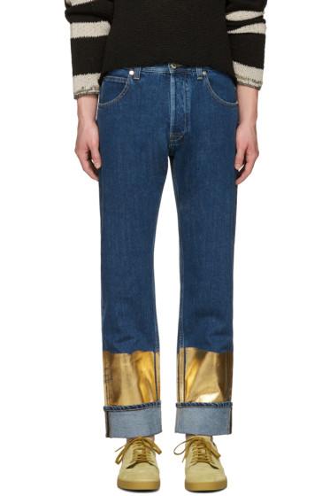 Loewe - Indigo Gold Hem Jeans