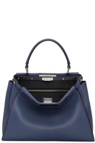 Fendi - Blue Regular Peekaboo Bag