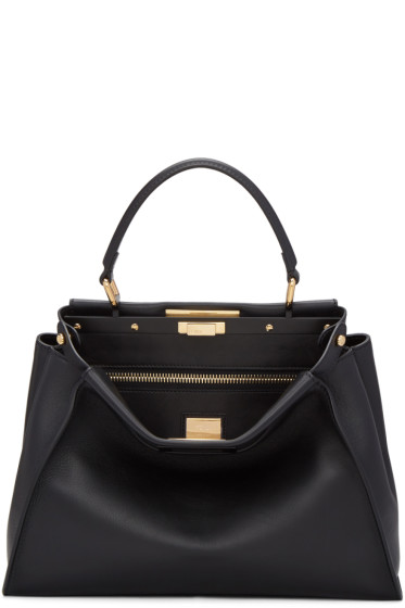Fendi - Black Regular Peekaboo Bag