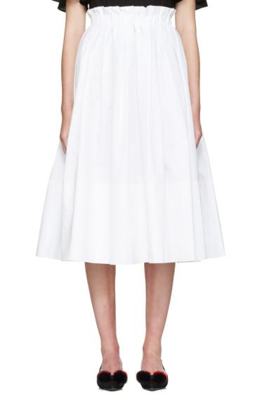 Fendi - White Poplin Skirt