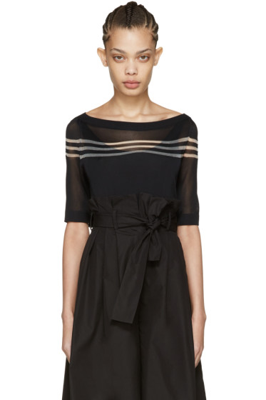 Fendi - Black Stripe Knit Pullover