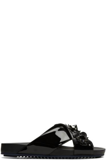 Fendi - Black Flowerland Sandals