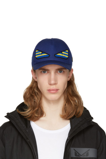 Fendi - SSENSE Exclusive Navy 'Bag Bug' Cap