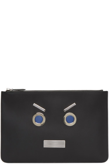 Fendi - Black 'Fendi Faces' Pouch