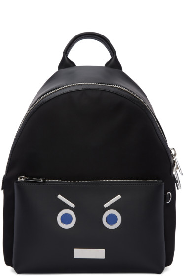 Fendi - Black 'Fendi Faces' Backpack
