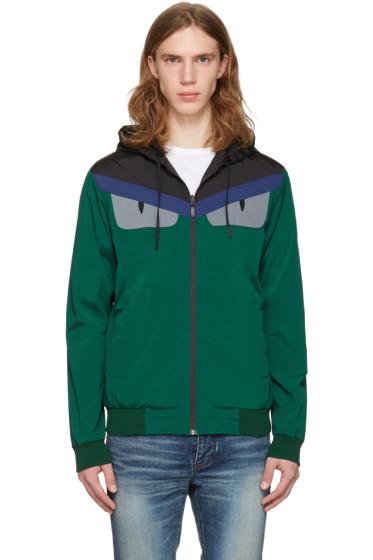 Fendi - Reversible Green 'Bag Bug' K-Way Jacket