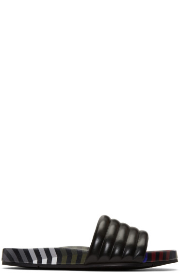Fendi - Black Zig Zag Sandals