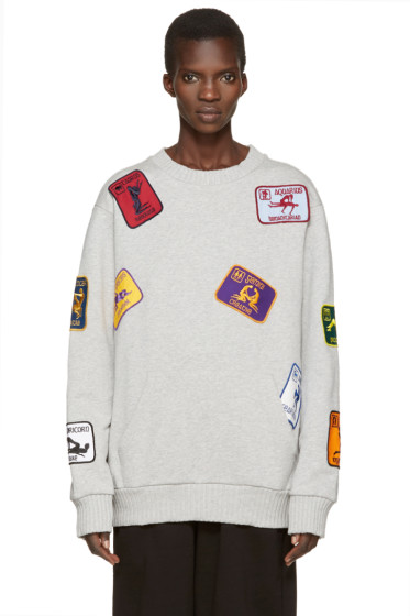 Palm Angels - Grey Kamasutra Patches Pullover