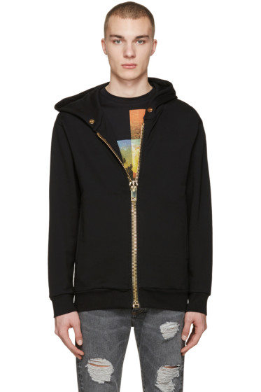 Palm Angels - Black Maxi Zip Hoodie