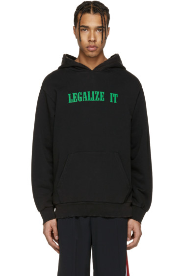 Palm Angels - Black 'Legalize It' Hoodie