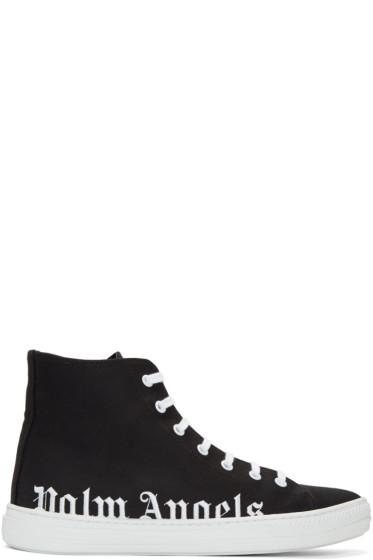 Palm Angels - Black Logo High-Top Sneakers