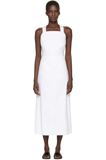 Rosetta Getty - White Apron Wrap Dress