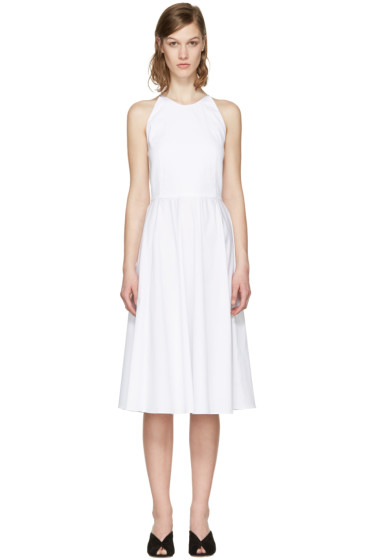 Rosetta Getty - White Poplin Halter Dress