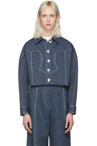 Rosetta Getty - Indigo Cropped Western Jacket