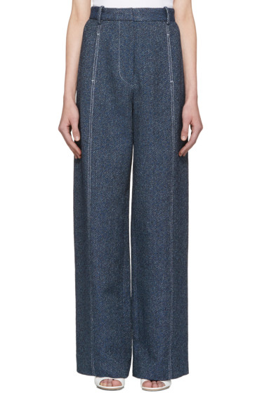 Rosetta Getty - Indigo High-Rise Trousers