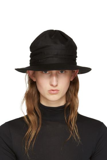 Y's - Black Twist Drape Hat