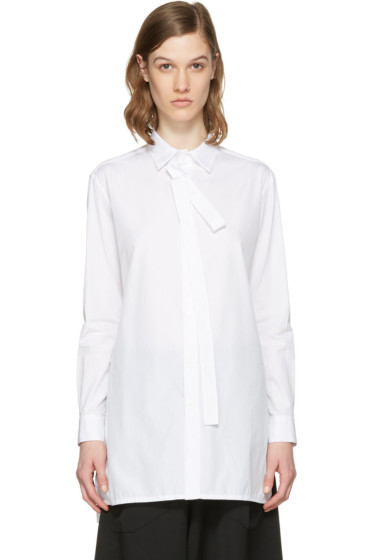 Y's - White Loose Placket Shirt