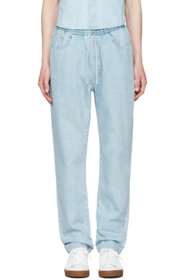 Sunnei - Blue Denim Lounge Jeans