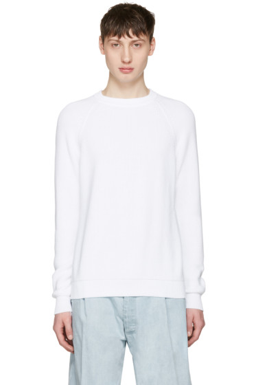 Sunnei - White Ribbed Sweater