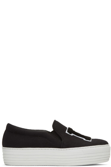 Joshua Sanders - Black 'LA' Double Slip-On Sneakers