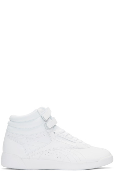 Reebok Classics - White Freestyle High-Top Sneakers