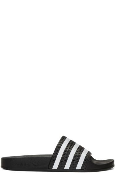 adidas Originals - Black Adilette Slide Sandals