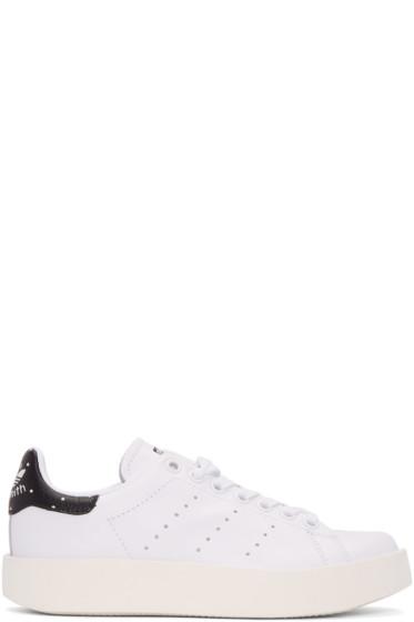 adidas Originals - White Stan Smith Bold Sneakers