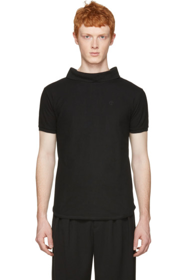 Telfar - Black Backwards Polo