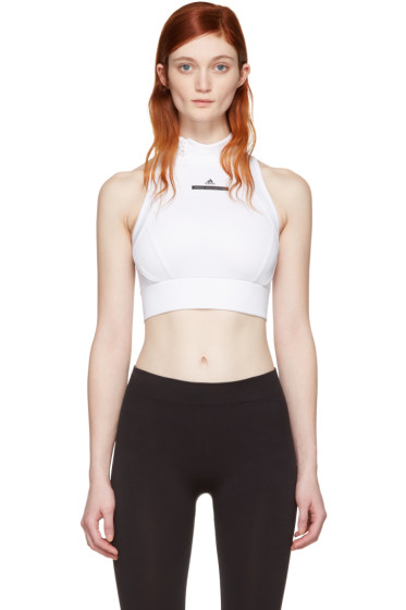 adidas by Stella McCartney - White Climalite Crop Top