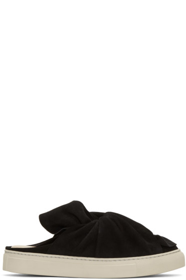 Ports 1961 - Black Suede Bow Slip-On Sneakers