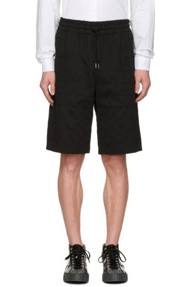 Ports 1961 - Black Embroidered Stars Shorts