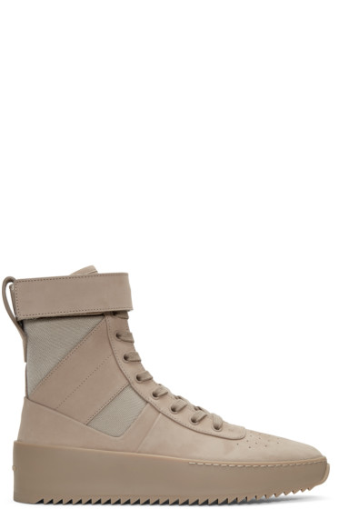 Fear of God - Beige Military High-Top Sneakers