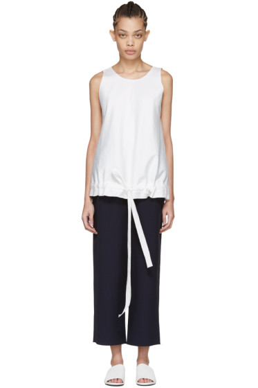 Sara Lanzi - Off-White Drawstring Top