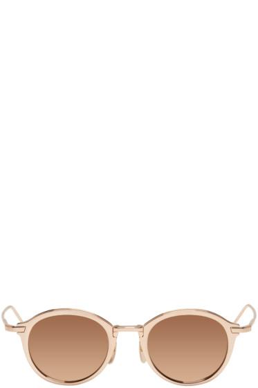 Thom Browne - Gold TB 110 Sunglasses