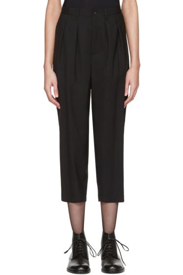 Tricot Comme des Garçons - Black Overdyed Trousers