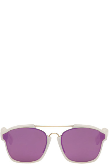 Dior - White Abstract Sunglasses