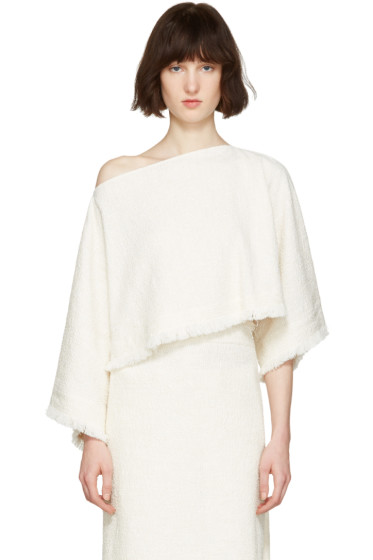 Nehera - Off-White Poncho Sweater