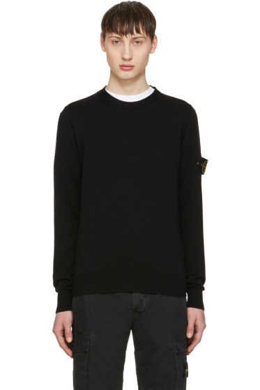Stone Island - Black Arm Patch Sweater