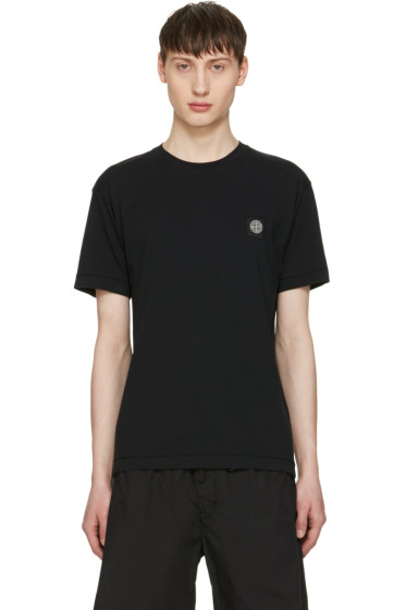 Stone Island - Black Embroidered Logo T-Shirt