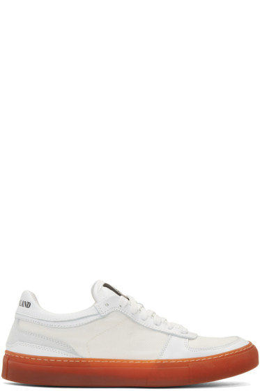 Stone Island - White Laced Sneakers