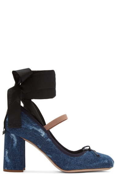 Miu Miu - Indigo Denim Ballerina Heels
